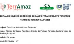 A ONF Brasil lança edital para vaga de técnico de campo para o projeto TerrAmaz