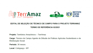 A ONF Brasil publica novamente edital para vaga de técnico de campo para o projeto TerrAmaz