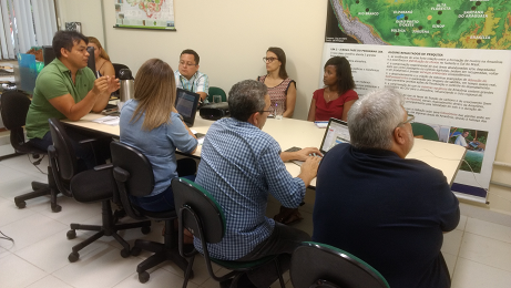 Equipes da ONF Brasil e do Programa LBA se encontram (Foto: LBA)