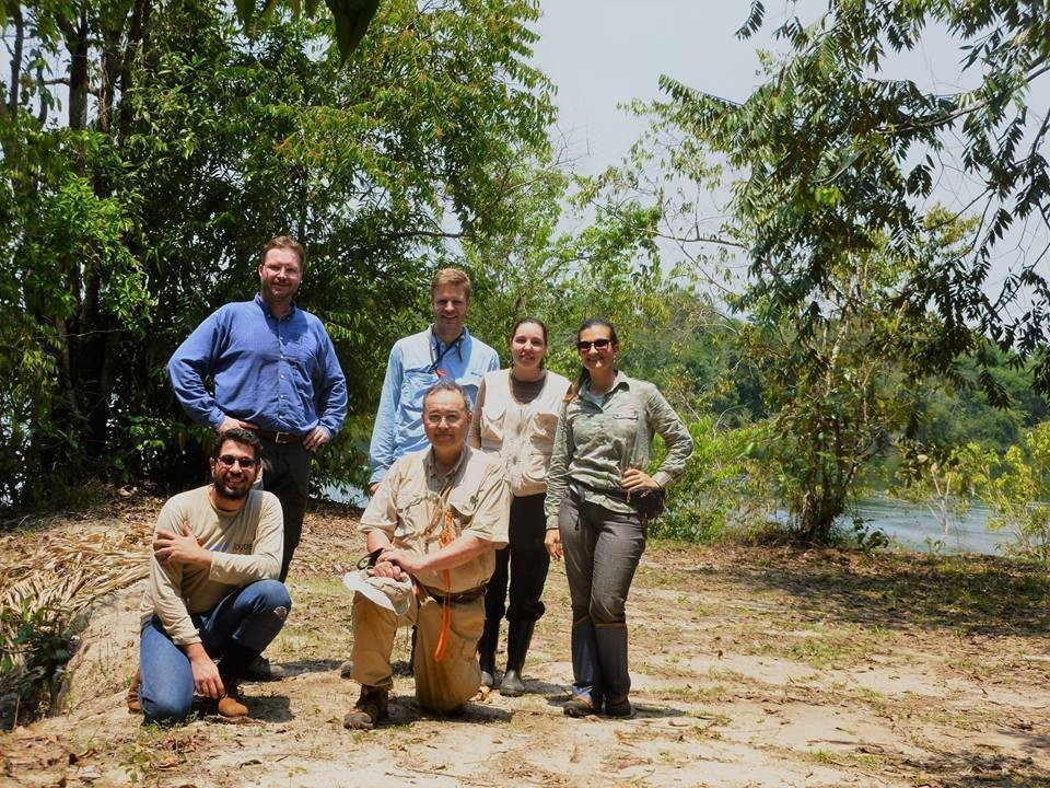 Da direita para a esquerda, Corina Barrera, Emilia Albuquerque, Fredrick Larabee,Ted Shultz, Christian Rabeling e Ricardo Vicente (Foto: Corina Barrera/ ONF Brasil).