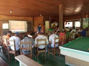 Curso de segurança no trabalho na Fazenda São Nicolau (Foto: ONF Brasil)