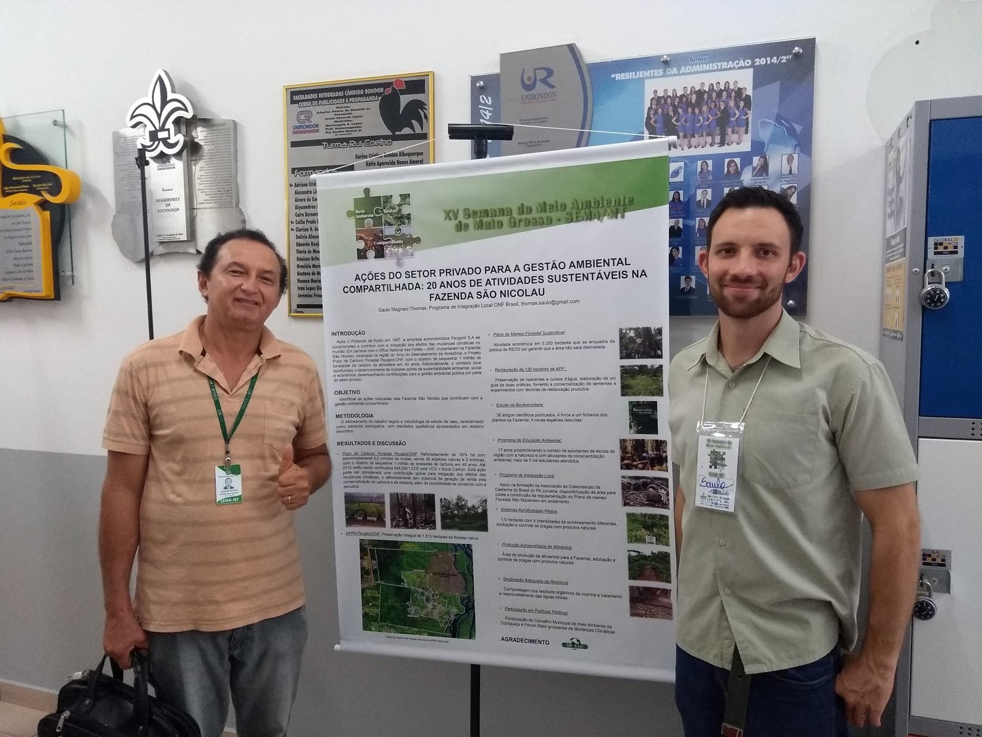 Equipe da ONF Brasil apresenta as atividades sustentáveis da Fazenda São Nicolau (foto: Saulo Thomas)