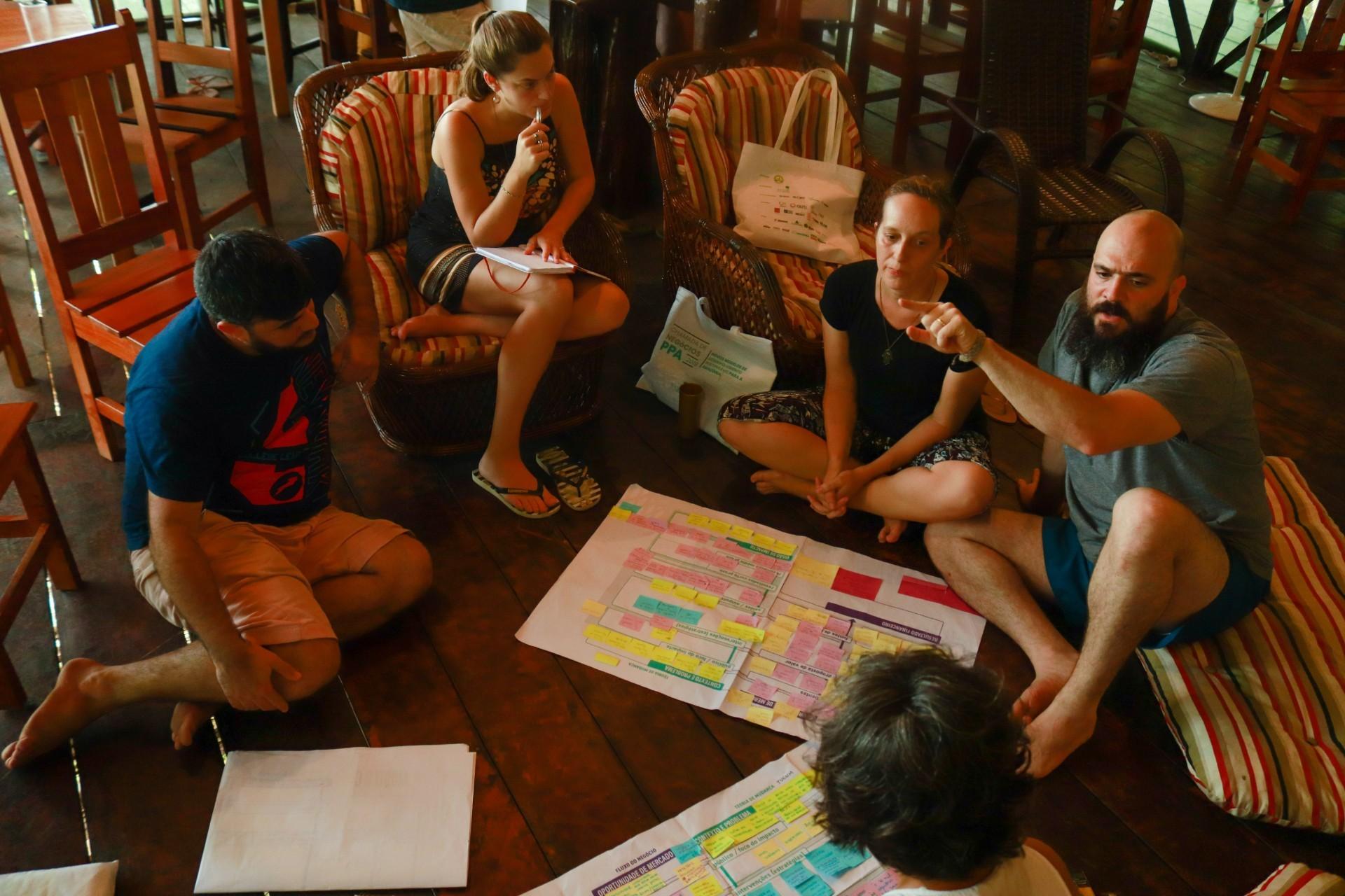 Empreendimentos de impacto positivo traçam seus modelos de negócio e indicadores de impacto (Foto: IDESAM)